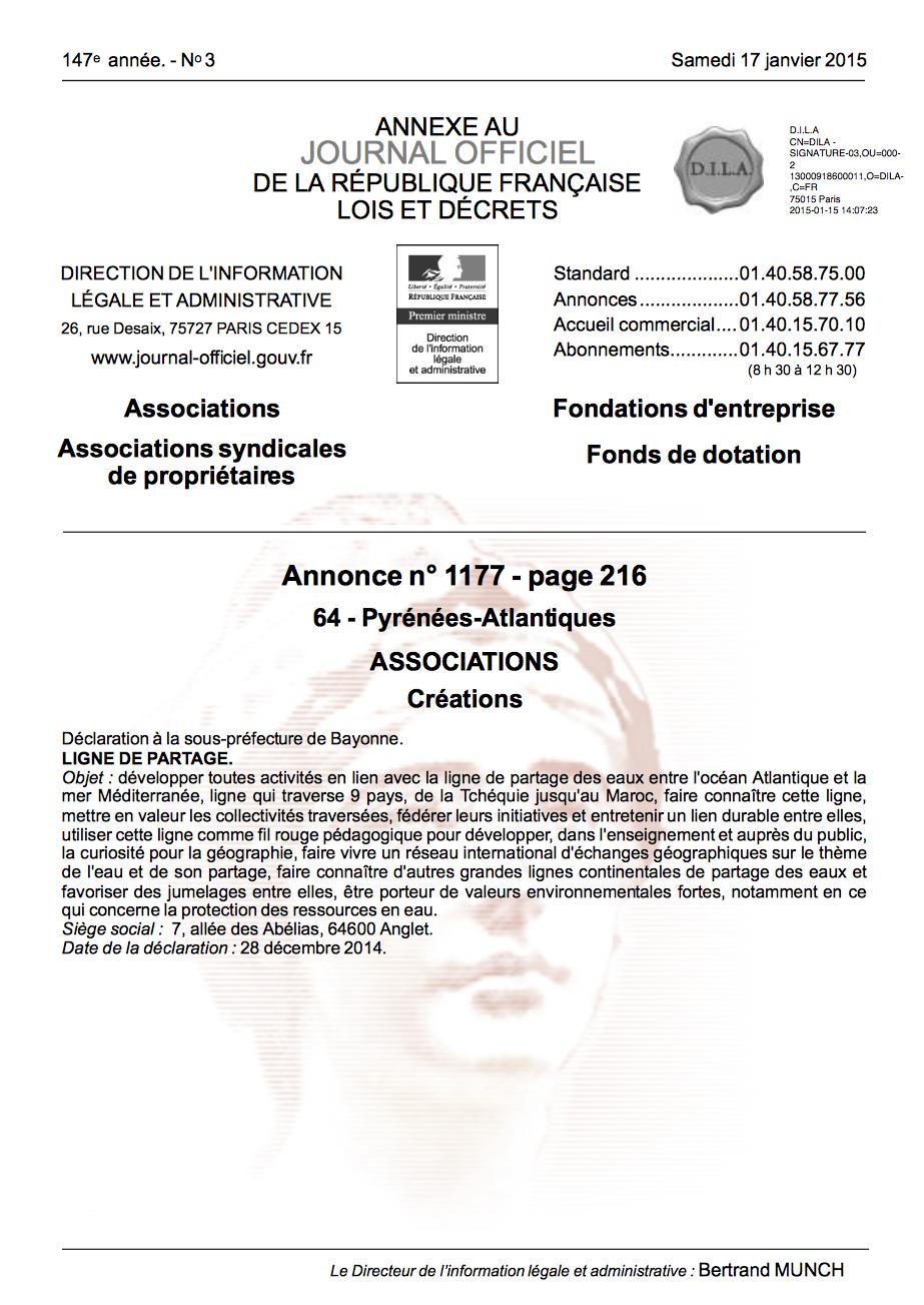 Quelques liens utiles - Modification bureau association loi ...